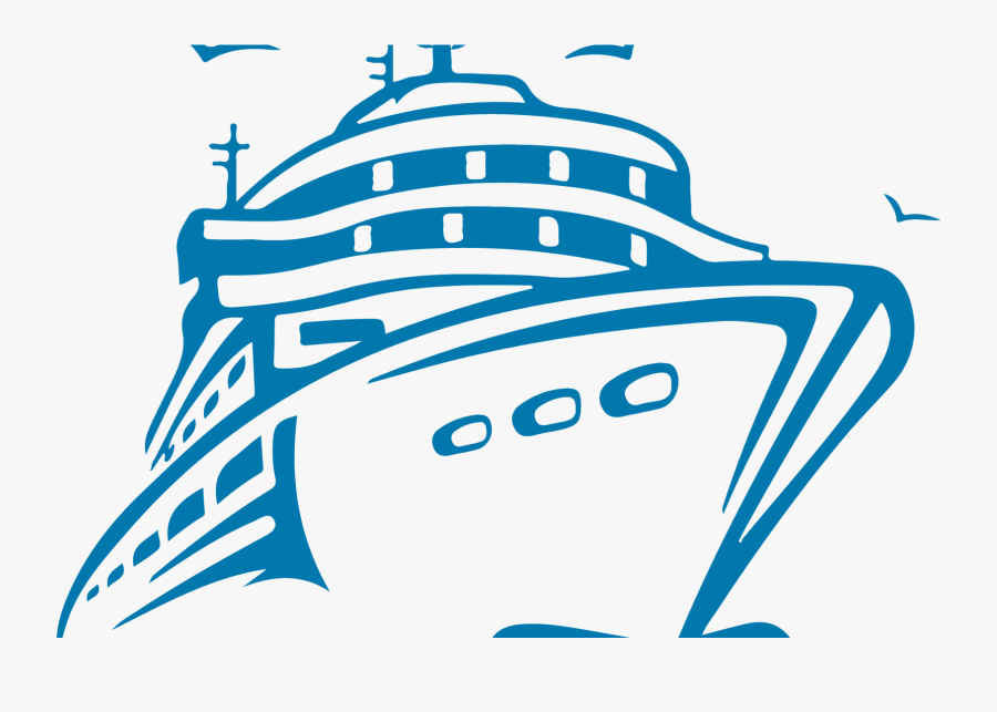 Transparent Cruise Ship Clipart - Cruise Ship Clipart Black And White, Transparent Clipart