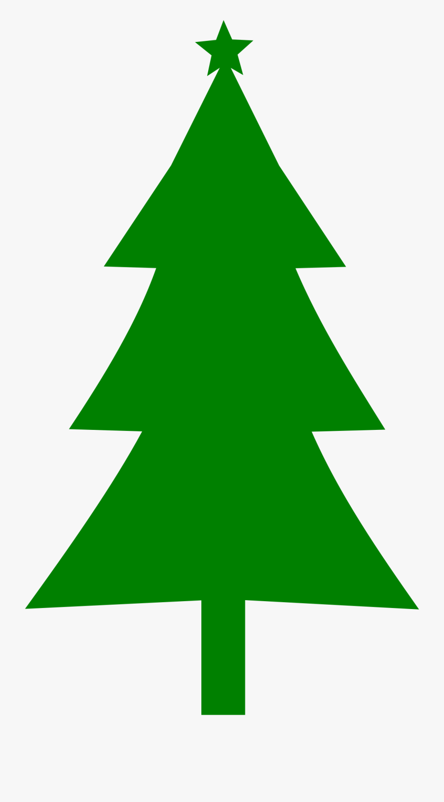 Evergreen Tree Silhouette At Getdrawings - Clip Art Red Christmas Tree, Transparent Clipart