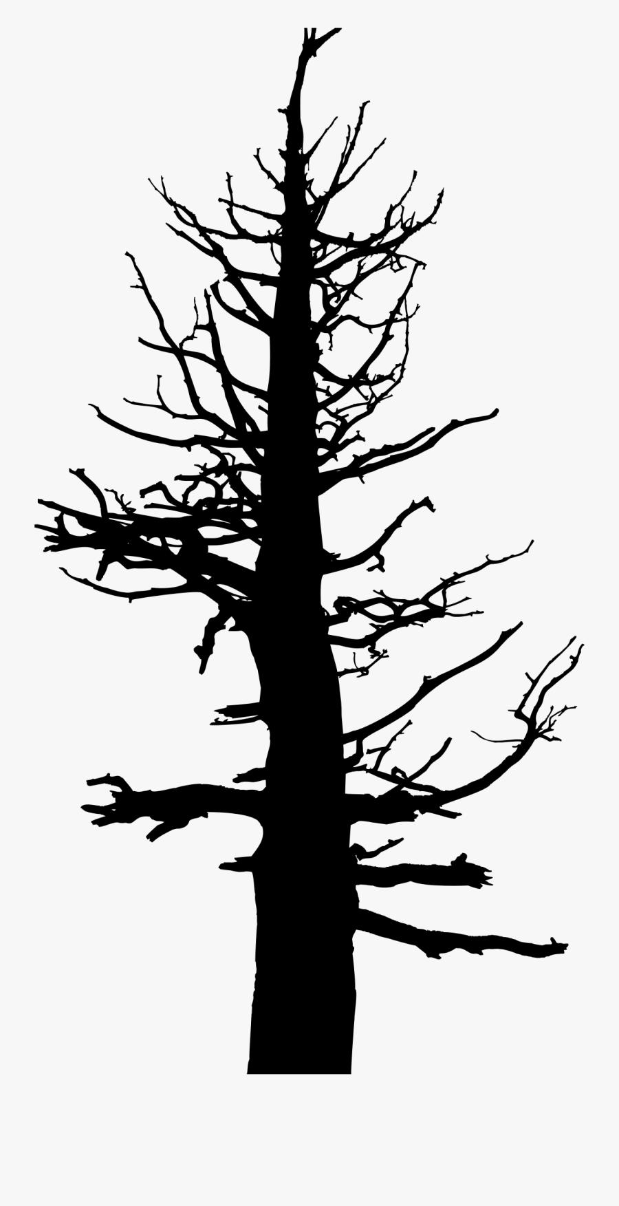Dead Tree Trunk Clip Art Clipart Free Download - Dead Pine Tree Silhouette, Transparent Clipart