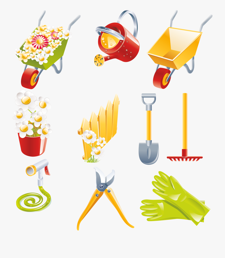 Garden Collection Png Gallery - List Of Gardening Tools Clipart, Transparent Clipart