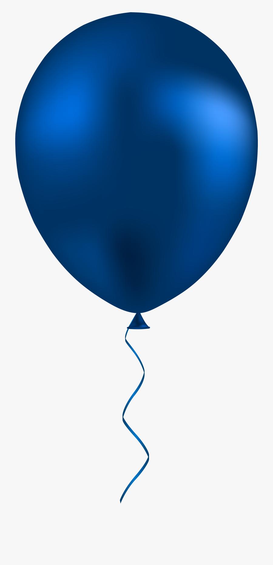 Dark Blue Balloon Png Clip Art - Dark Blue Balloon Png, Transparent Clipart