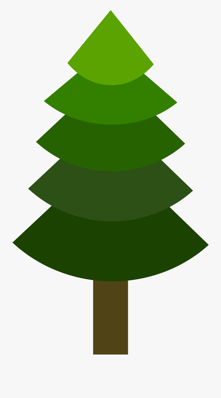 Tree- Pine Or Geometric, Green Hues, Flat Yet 3d Banner - Christmas Tree, Transparent Clipart