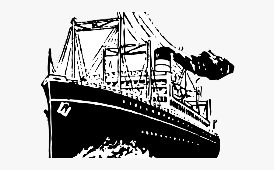 Cruise Ship Clipart Cargo Ship - Ship Clipart Black And White Png, Transparent Clipart