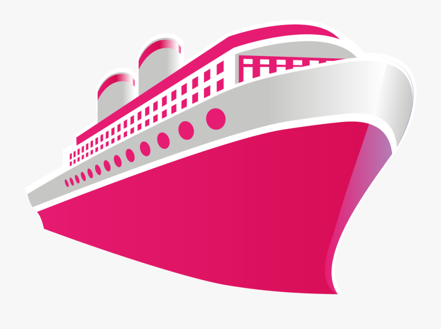 Transparent Cruise Ship Png - Pink Cruise Ship Clip Art, Transparent Clipart