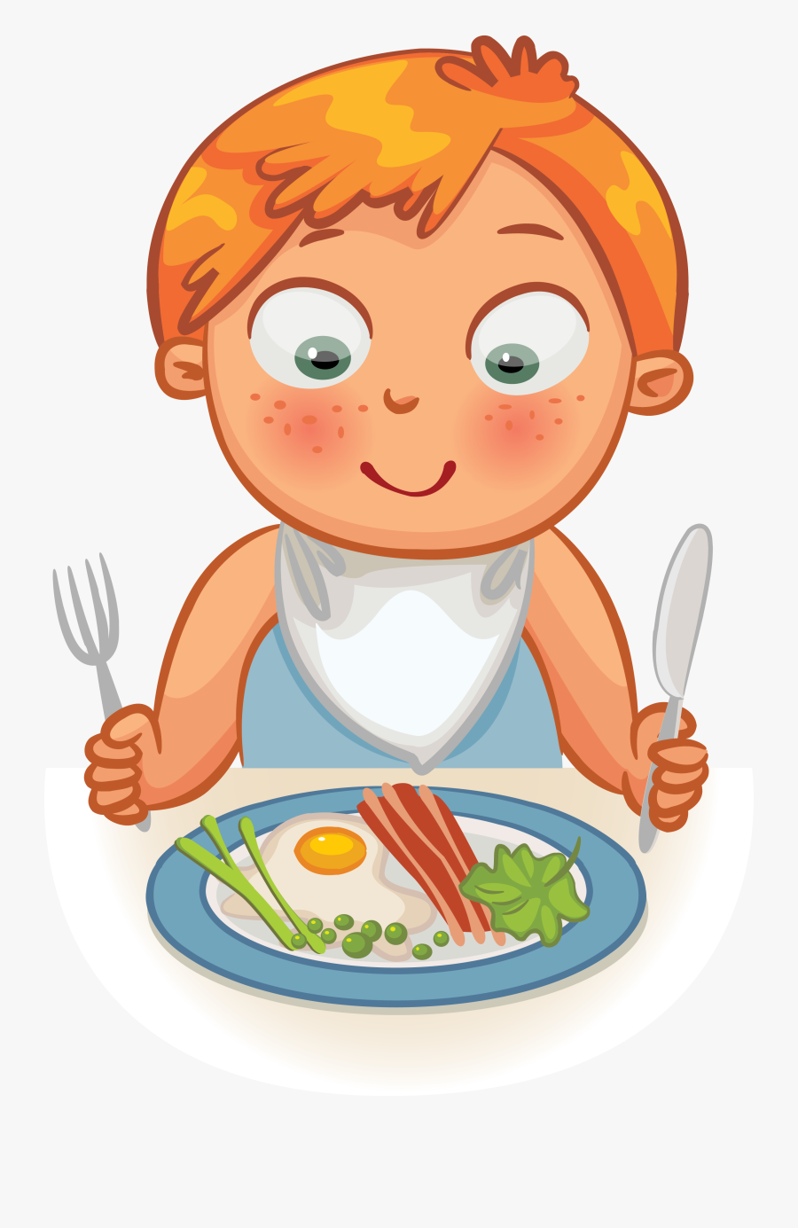 Transparent Kid Eating Cereal Clipart - Kid Eating Clipart, Transparent Clipart