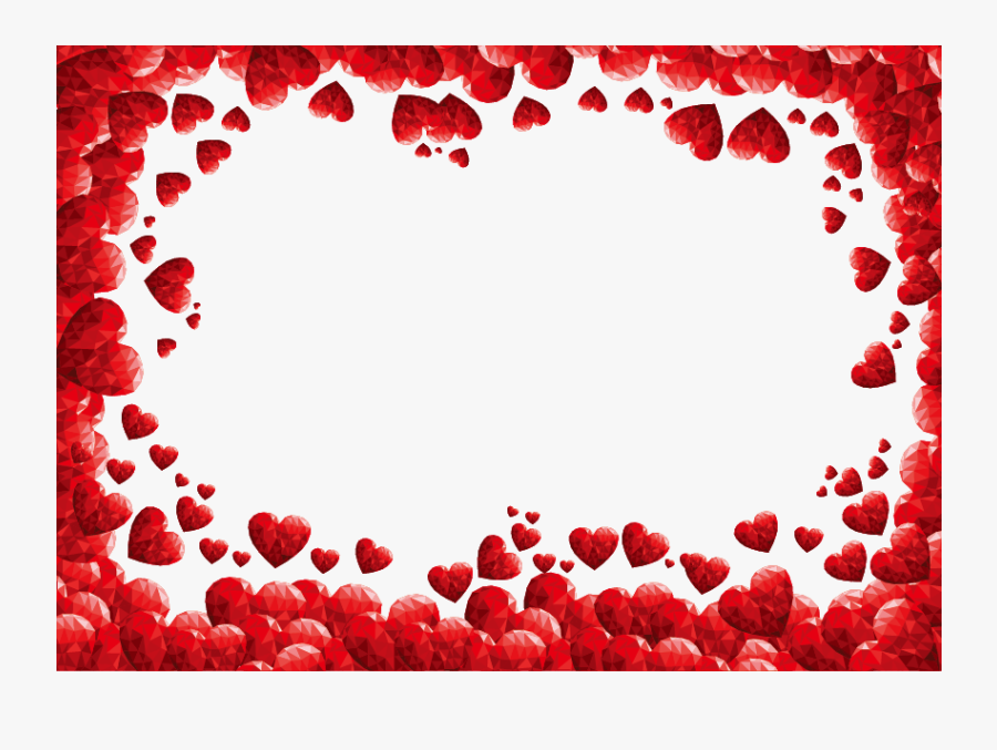 Valentines Day Heart Clip Art - Valentines Day Border Png, Transparent Clipart