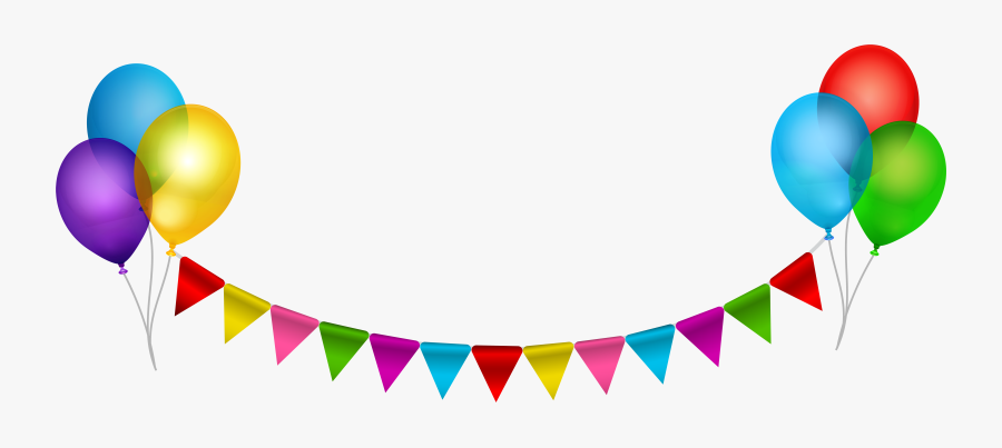 Download Balloon Clip Art - Party Streamers Transparent Background, Transparent Clipart