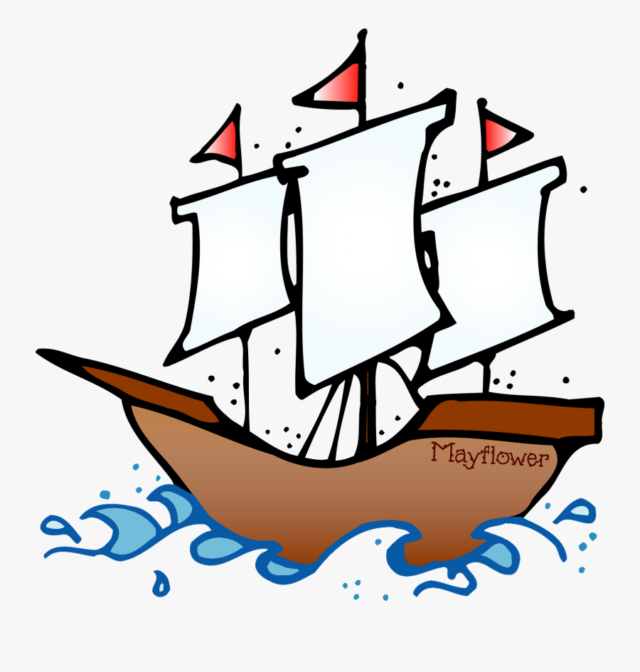 Pilgrim Clipart Boat - Christopher Columbus Ship Clipart, Transparent Clipart