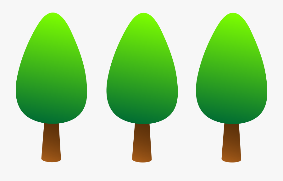 Pine Tree Clipart Png - Simple Tree Cartoon Png, Transparent Clipart