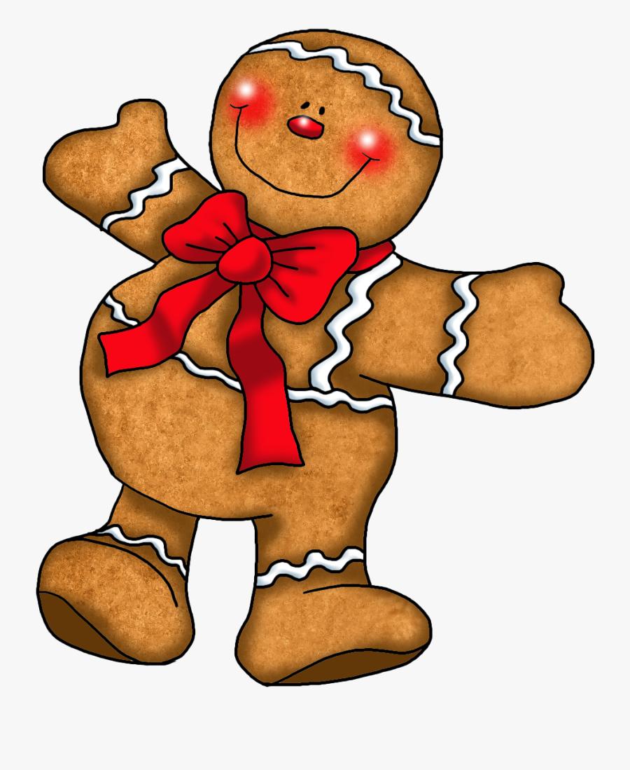 Gingerbread Man Clipart Kid - Printable Christmas Gingerbread Man, Transparent Clipart