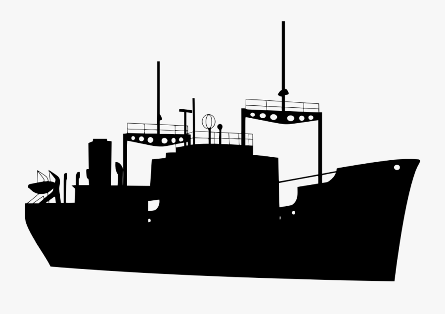 Transparent Ship Silhouette Png - Cargo Ship Clipart, Transparent Clipart