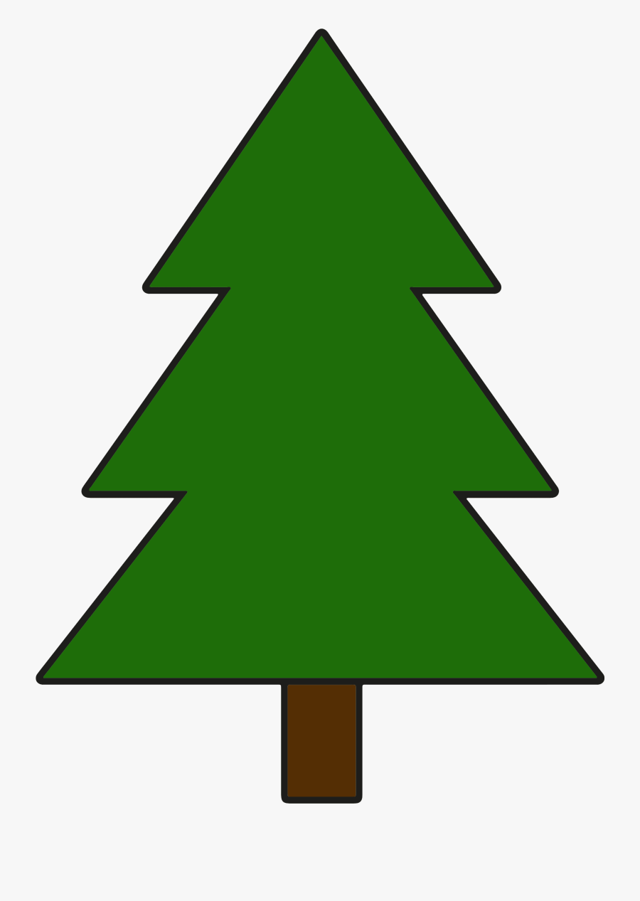 Simple Pine Tree Clipart , Png Download - Simple Pine Tree Clipart, Transparent Clipart