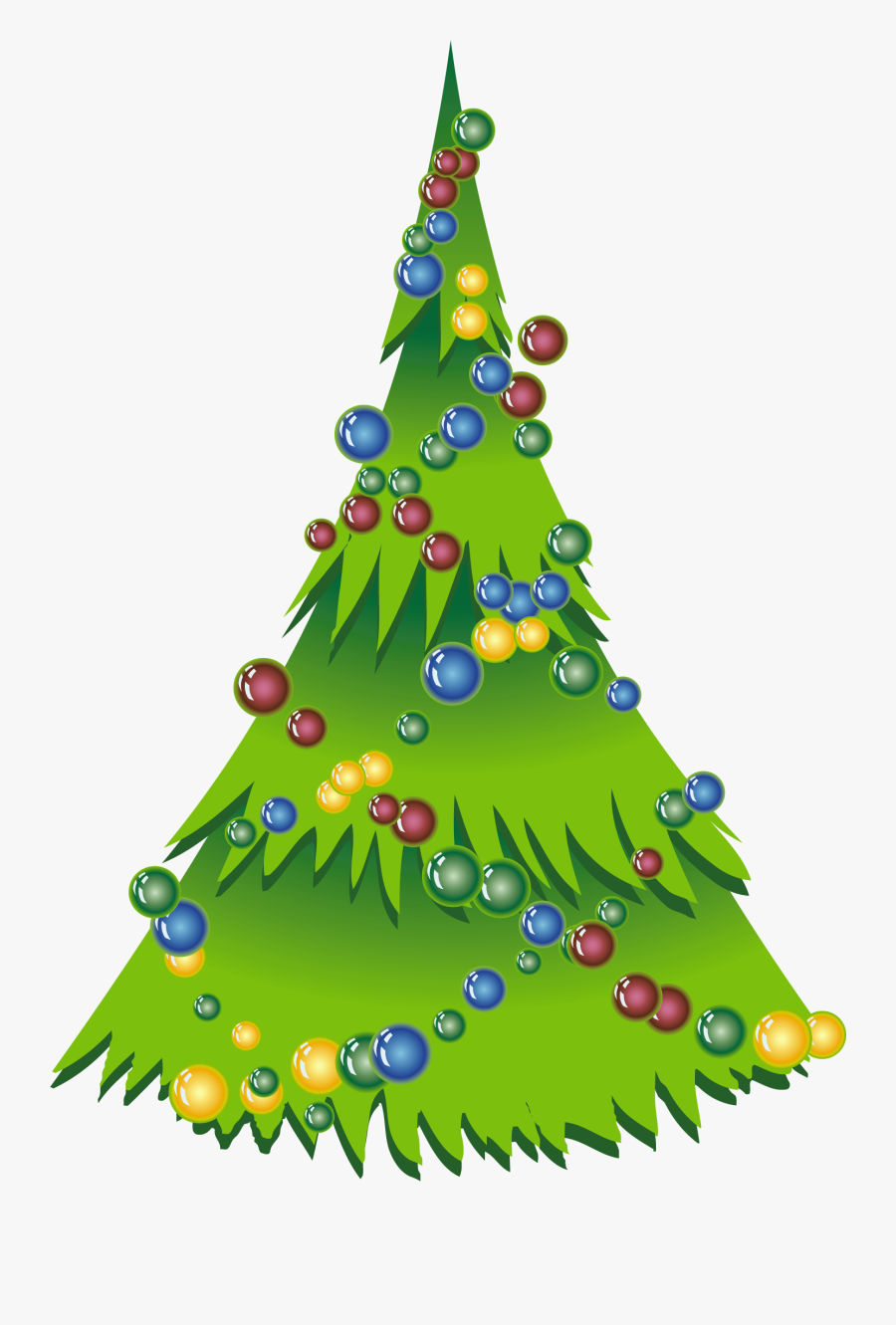 Christmas Simple Tree Png Clipart - Christmas Tree Png, Transparent Clipart