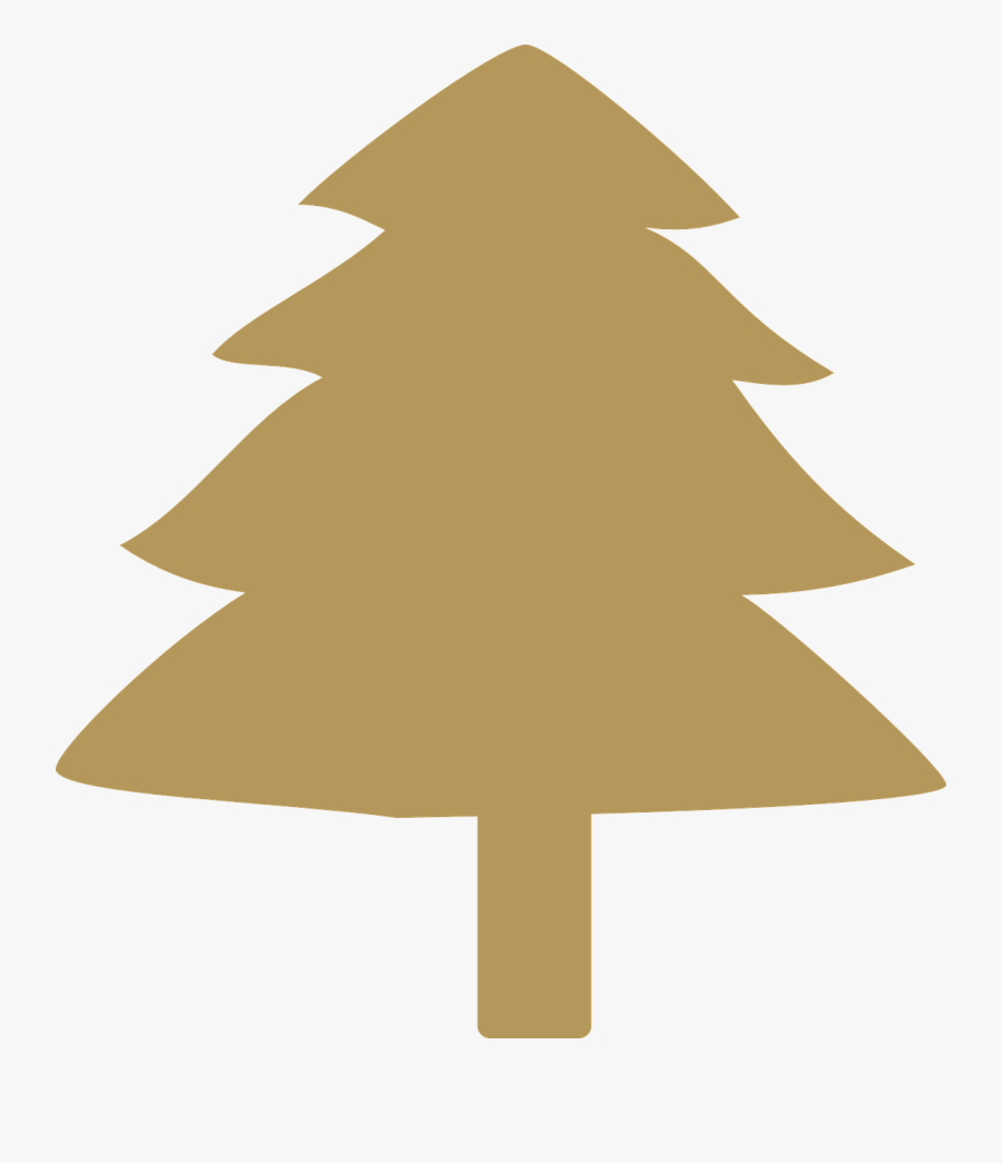 Transparent Christmas Tree Vector Png - Gold Xmas Tree Clipart, Transparent Clipart
