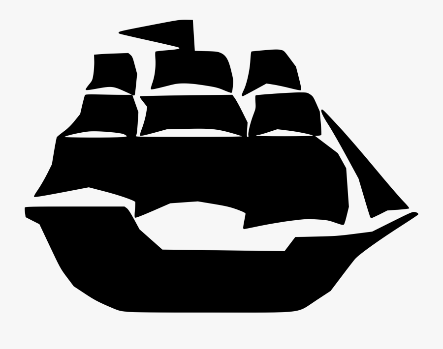 Pirate Clipart Pirate Ship - Black And White Ship Clipart, Transparent Clipart