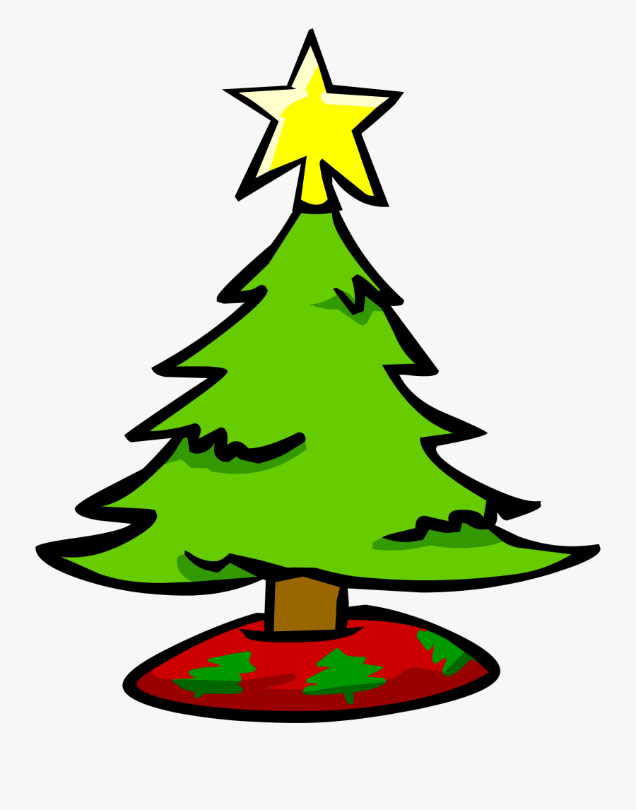 Small Picture Of Christmas Tree, Transparent Clipart
