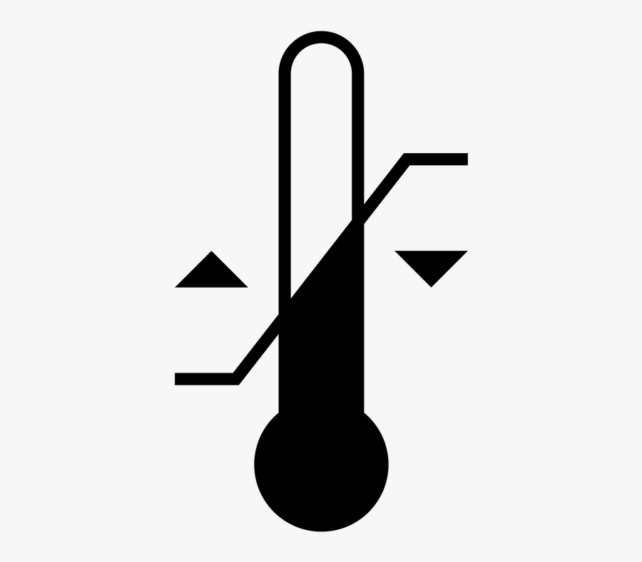 Thermometer Clipart Clinical Thermometer - Black & White Clip Art Images Thermometer, Transparent Clipart