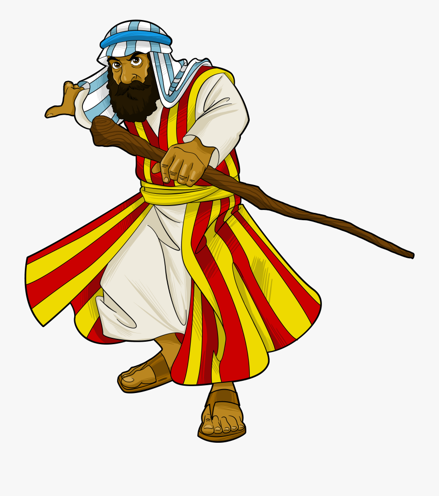 Moses Clipart Bible Character - Clipart Bible Characters Comic, Transparent Clipart