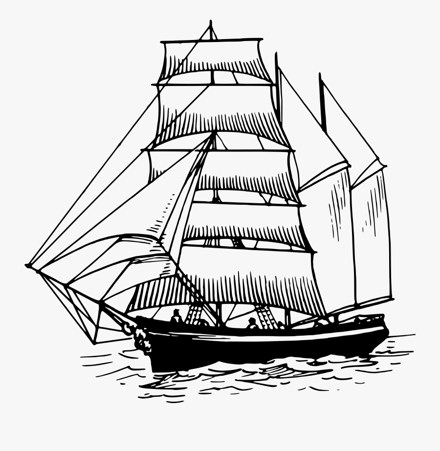 Sailing Ship Clipart Number - Ferdinand Magellan's Ship Drawing, Transparent Clipart