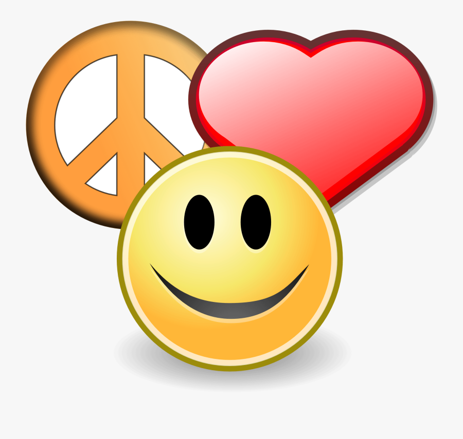 Peace Sign Clip Art Free Bing Images Visor Image - Love Peace And Happiness Clipart, Transparent Clipart