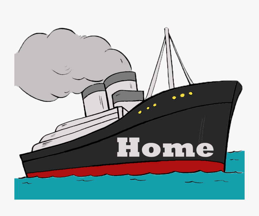 Cartoon Titanic Ship Clipart , Png Download - Ship Cartoon Titanic, Transparent Clipart