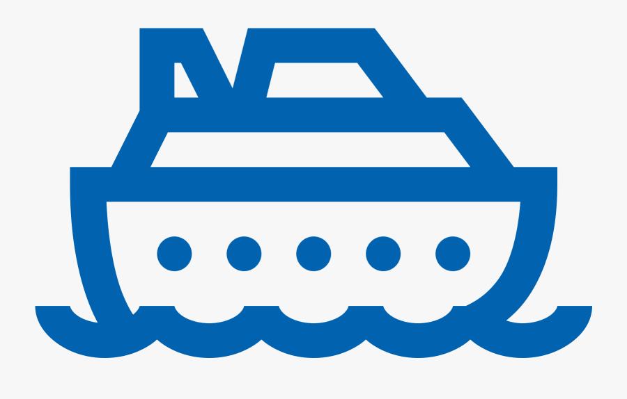 Cruise Ship Clipart Blue Ship - Icon Of Cruise Ship Transparent, Transparent Clipart