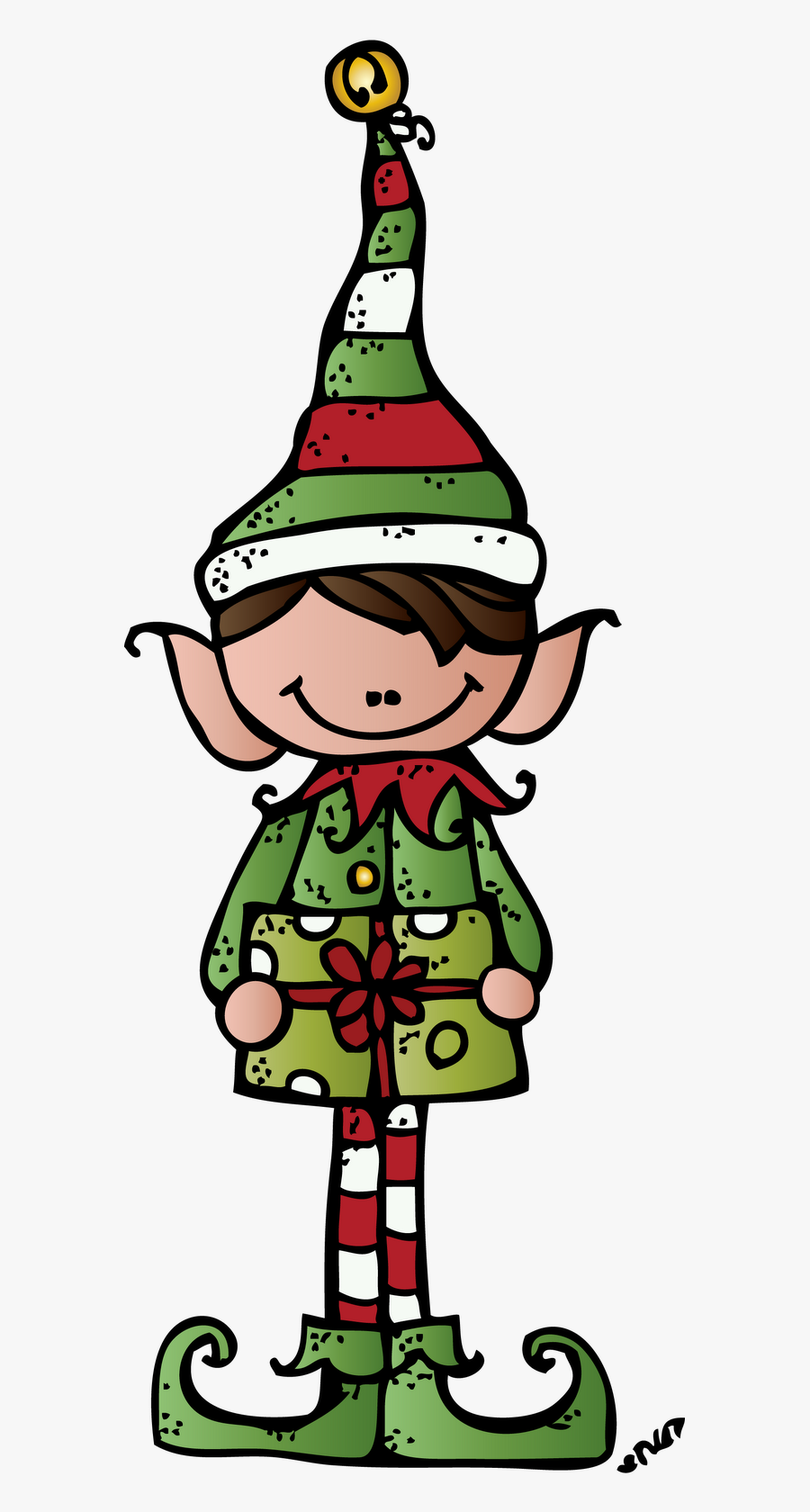 Dj Inkers Christmas Tree Clipart - Melonheadz Christmas Clip Art, Transparent Clipart