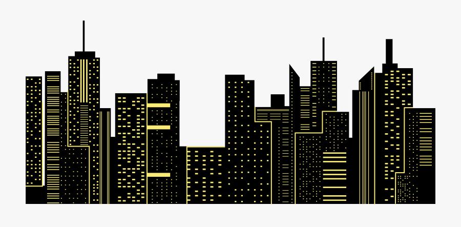 Transparent New York Skyline Silhouette Png - City Skyline Clipart Png, Transparent Clipart