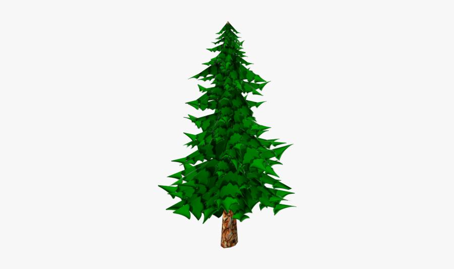 Cartoon Pine Trees - Clipart Cartoon Pine Tree, Transparent Clipart