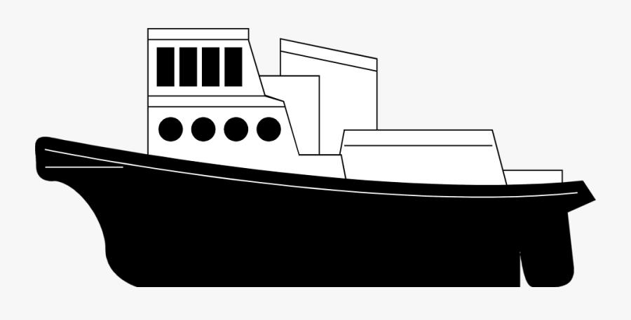 Transparent Ship Clip Art - Cargo Ship With Transparent Background, Transparent Clipart