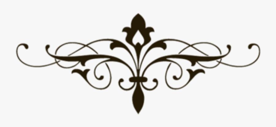 Decorative Line Clipart Free Clip Art Images - Fancy Lines Transparent Background, Transparent Clipart