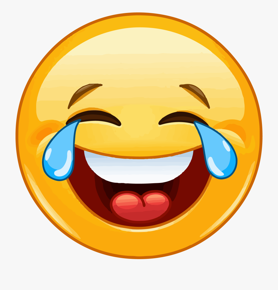 Clip Art Laugh Out Loud Emoji - Emoji Laughing, Transparent Clipart