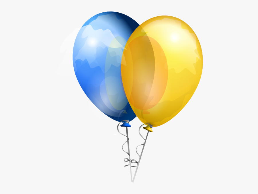 Blue And Yellow Balloons Transparent Background, Transparent Clipart