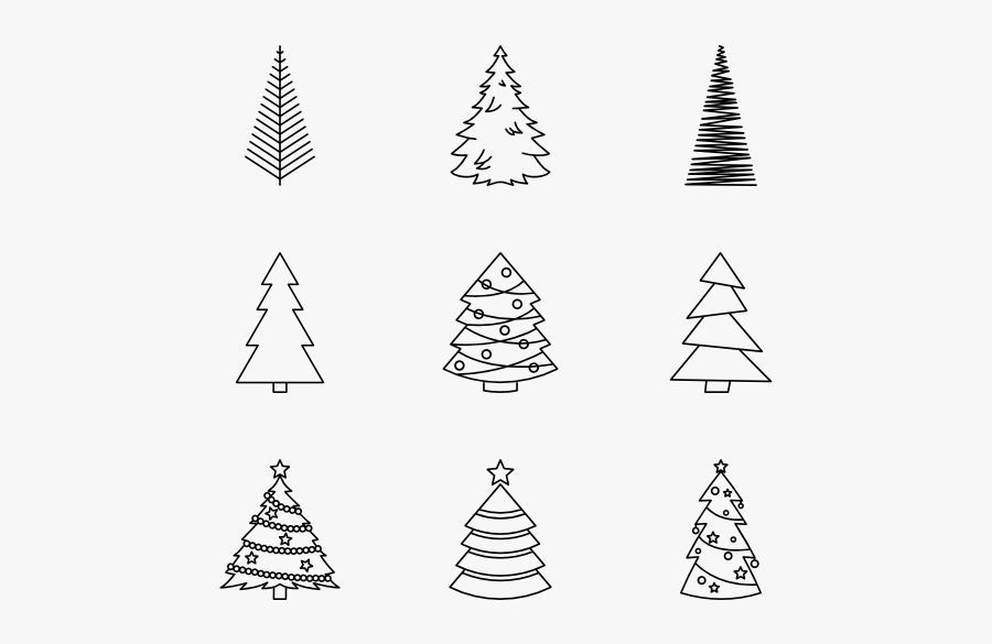Christmas Tree Png Royalty Free - Christmas Tree Drawing Png, Transparent Clipart
