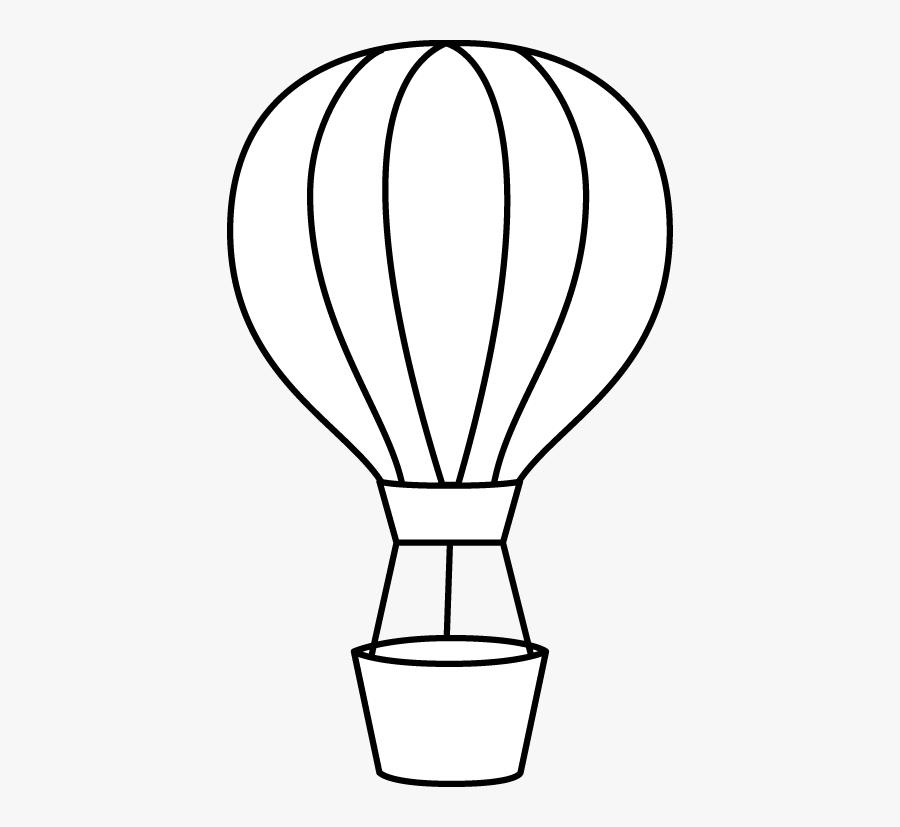 Hot Air Balloon Black And White Hot Air Balloon Clipart - Printable Hot Air Balloon Stencil, Transparent Clipart