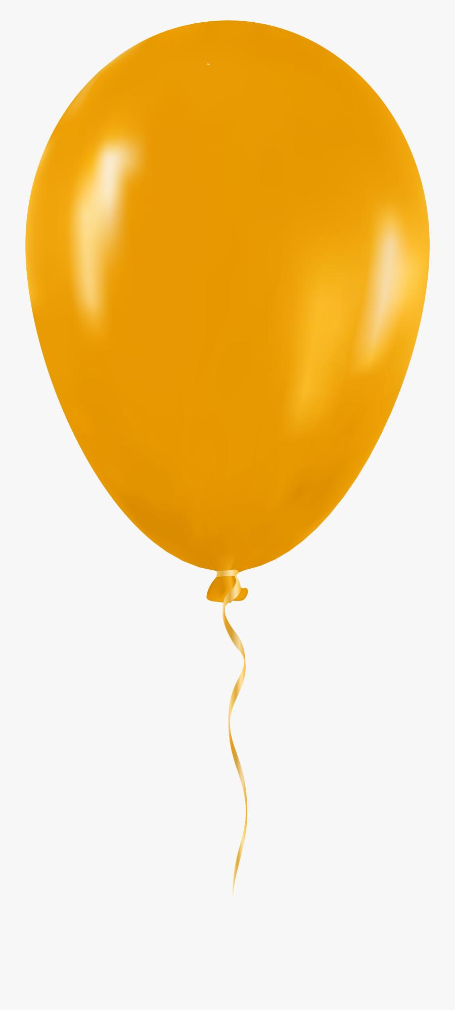 Yellow Balloon Png Clip Art - Yellow Balloon Transparent Background, Transparent Clipart