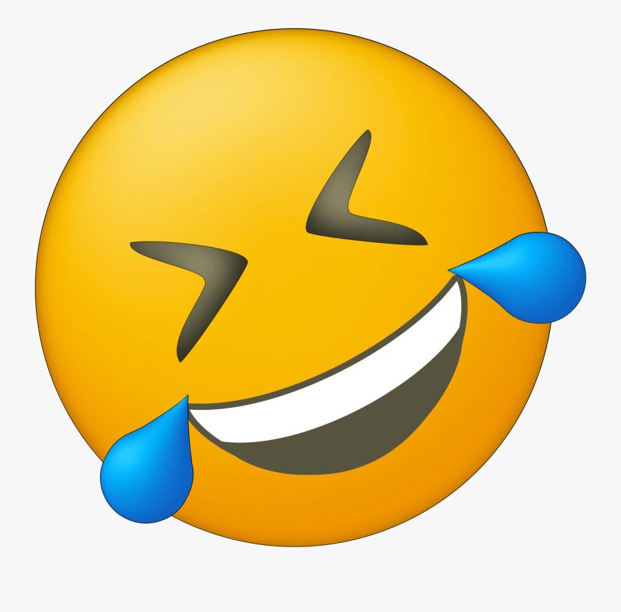 Emoji Laughing Png - Crying Laughing Emoji, Transparent Clipart