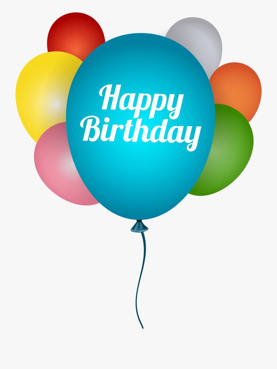 Clip Art Birthday Balloon Clip Art - Happy Birthday Clip Art Balloons, Transparent Clipart