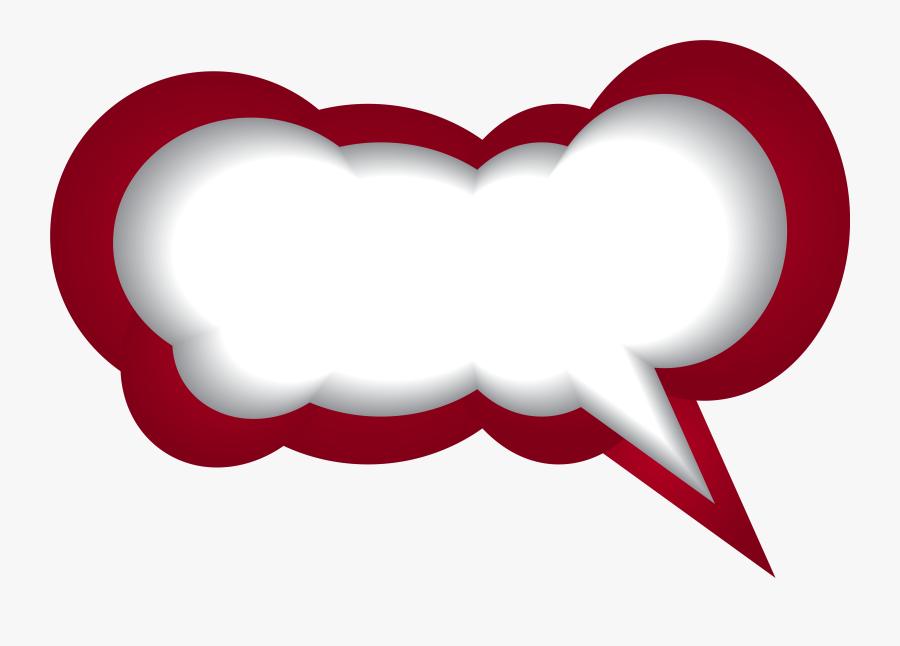 Speech Clipart Speech Balloon - Speech Bubble Red Png, Transparent Clipart