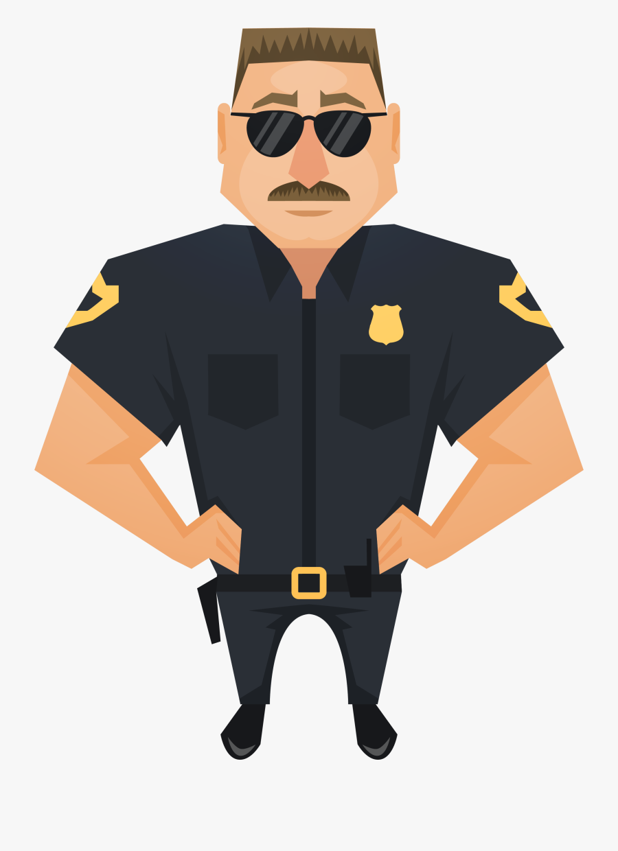 Judge Police Officer Handsome Download Hd Png Clipart - Clipart Police Officer Png, Transparent Clipart