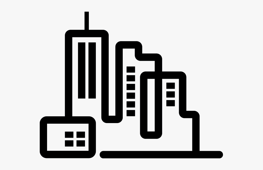 Transparent City Clipart Png - Smart City Clipart Black And White, Transparent Clipart