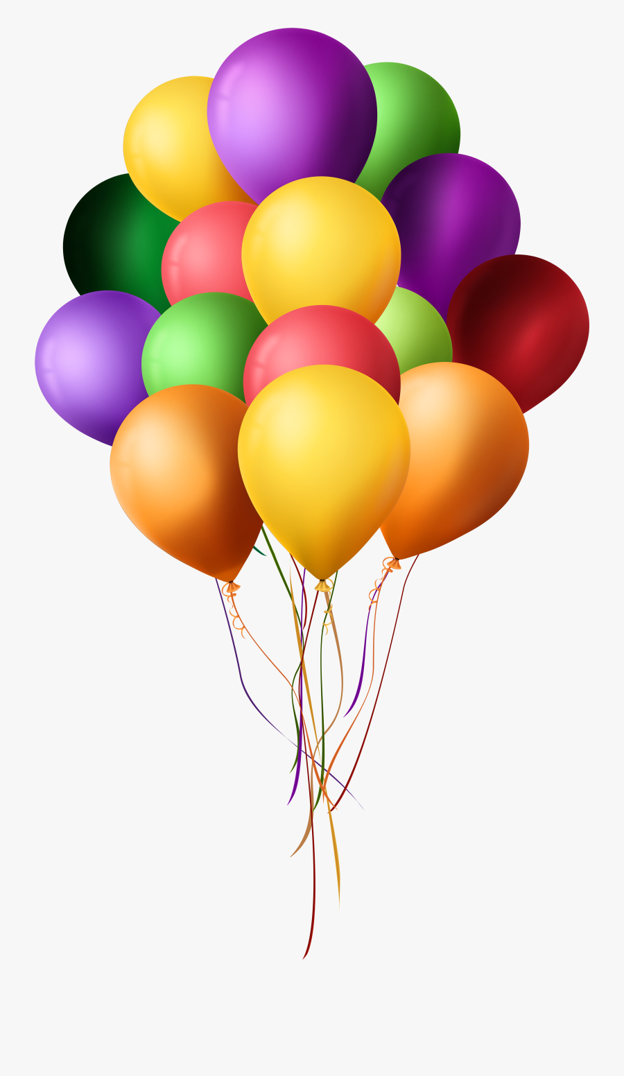 Bunch Of Balloons Png Clip Art - Png Format Balloon Png Hd, Transparent Clipart