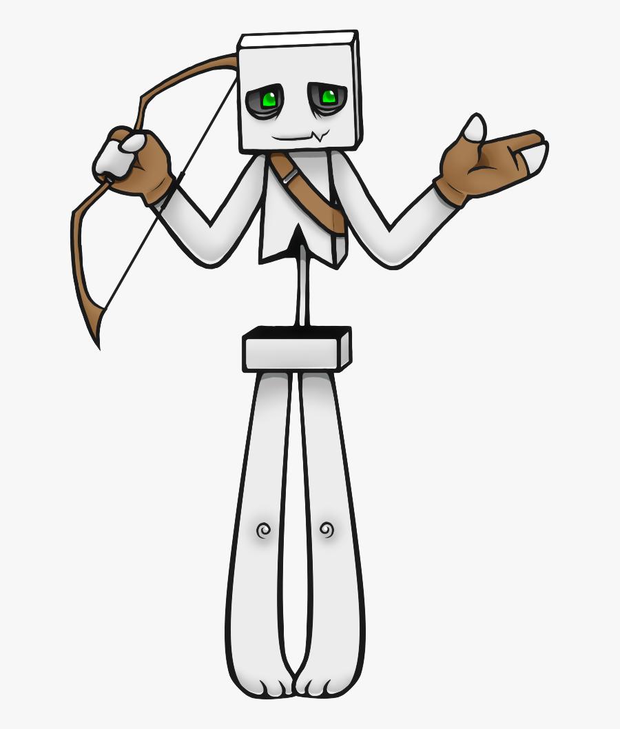 Skeleton Clipart Transparent - Minecraft Drawings Clipart Skeleton, Transparent Clipart