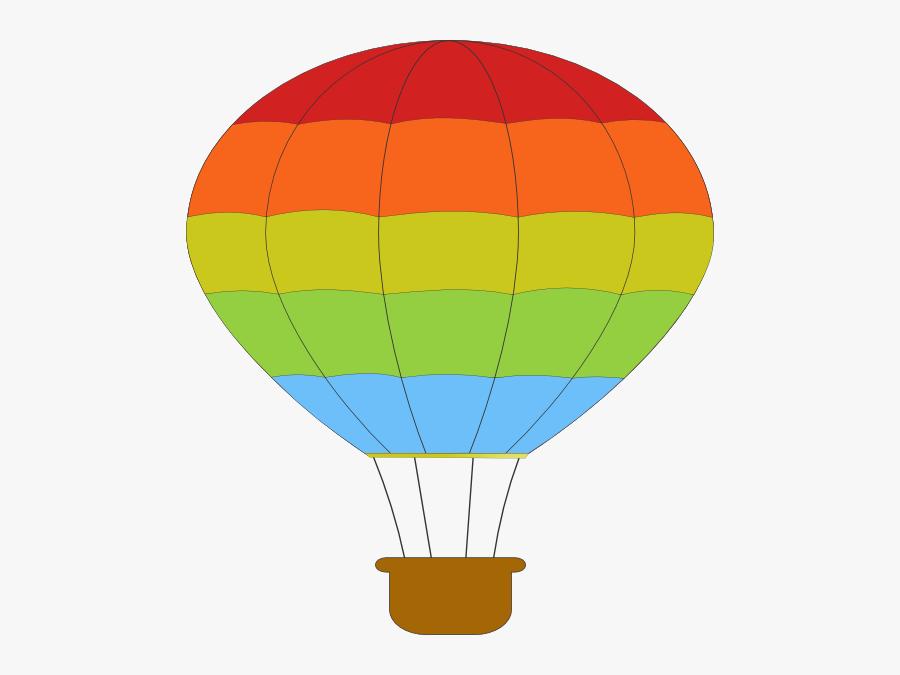 Hot Air Balloon Black And White Free Clipart Hot Air - Pink Hot Air Balloon Clipart, Transparent Clipart