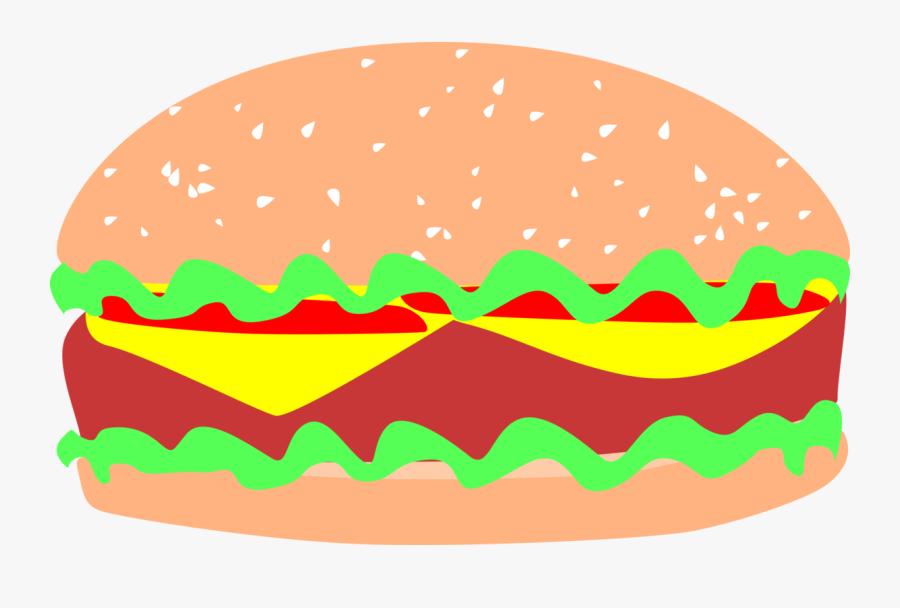 Vegan Hamburger - Inkscape Sandwich, Transparent Clipart