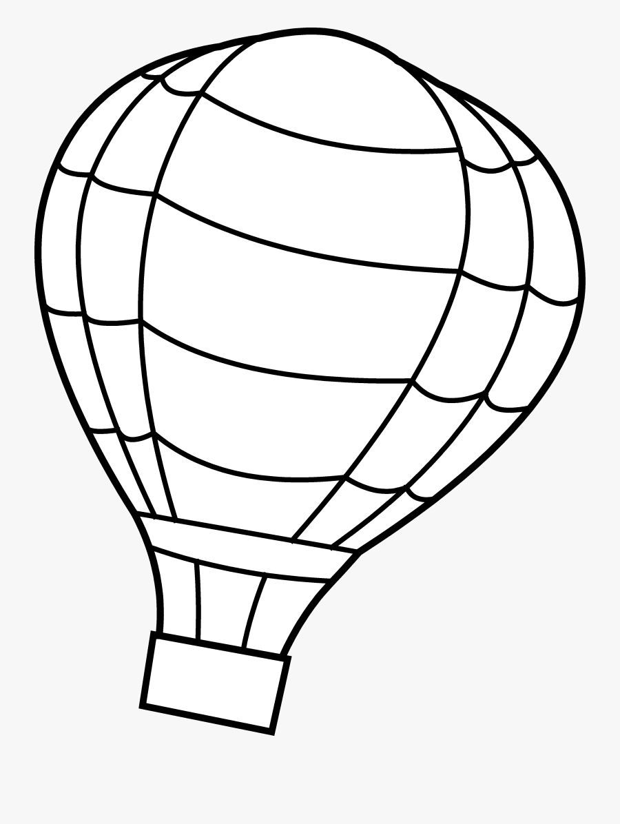Coloring Pages Free Large - Colouring Pic Of Hot Air Balloon, Transparent Clipart