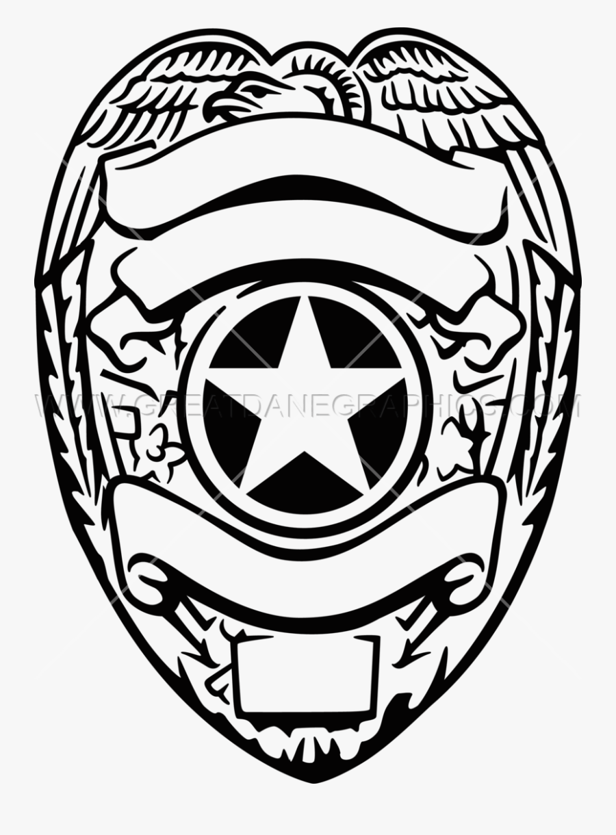 Police Badge Drawing At Getdrawings - Police Officer Badge Svg, Transparent Clipart