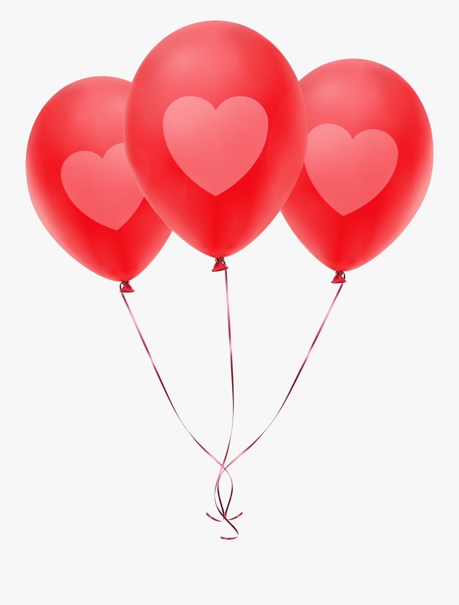 Transparent Heart Balloon Clipart - Balloon Red Png Png, Transparent Clipart