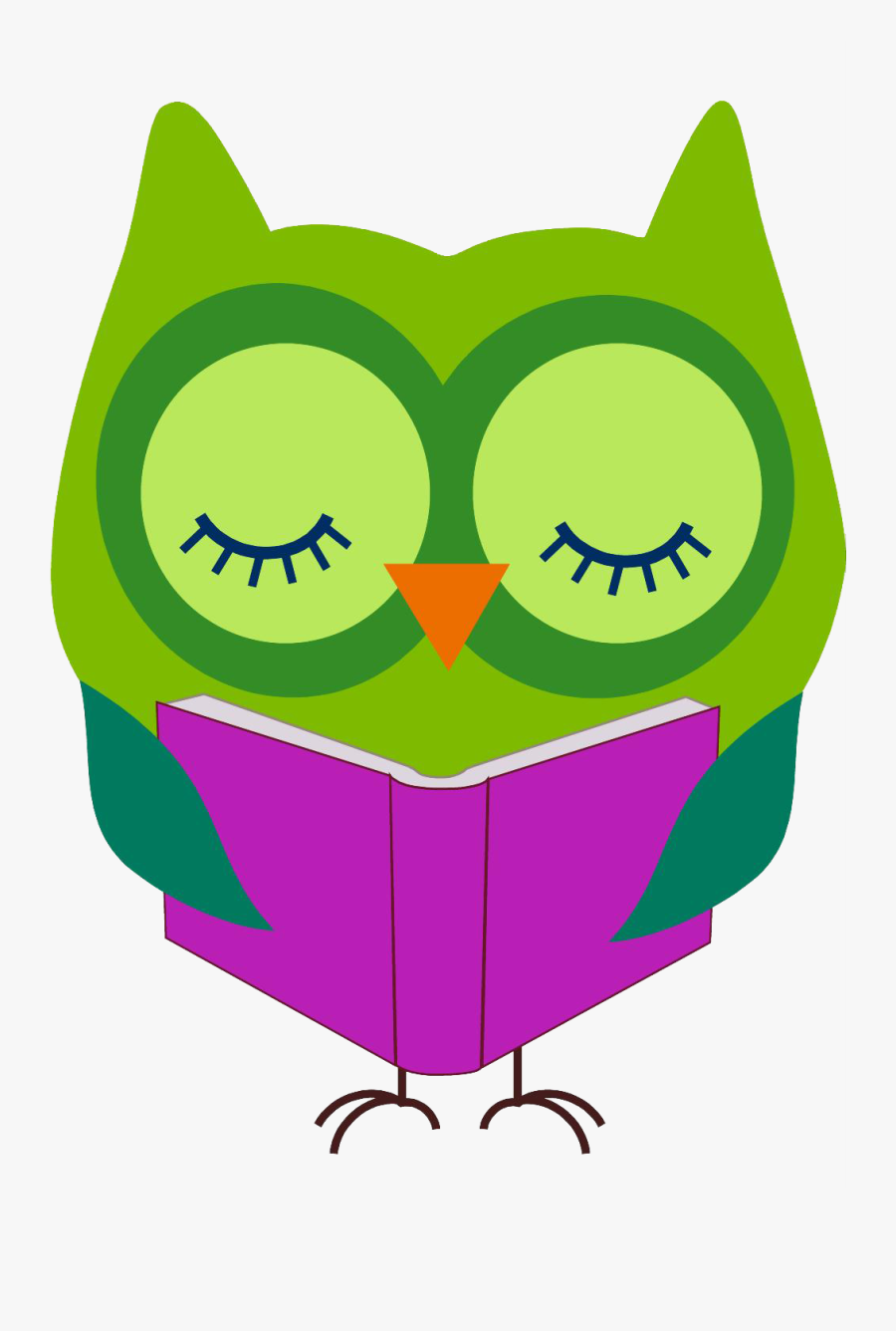 Reading Google Search Library - Owl Reading Clipart, Transparent Clipart