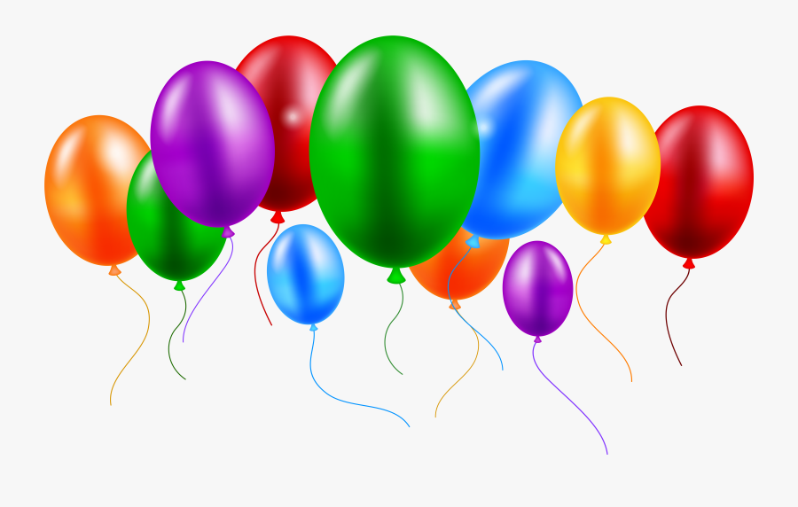 Colors Clipart Transparent Balloons Png - Happy Birthday Logo Png, Transparent Clipart